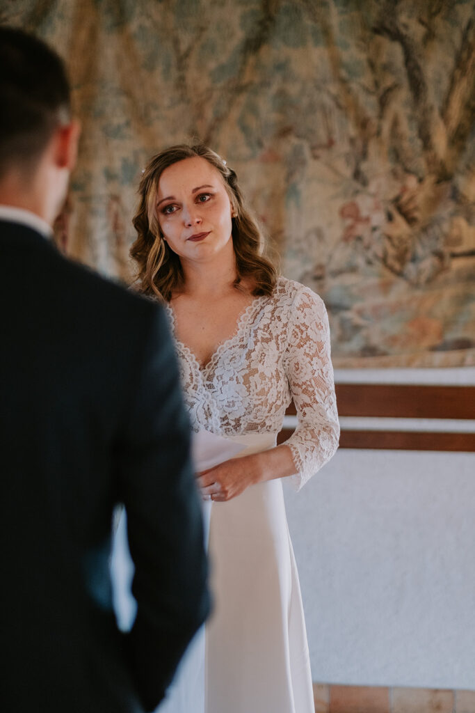 émotions de la mariée - cérémonie laique